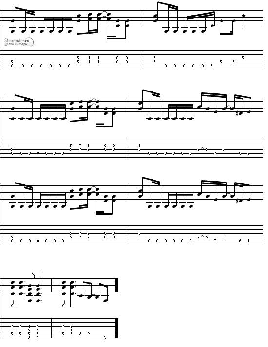 Гитарный риф из Hit The Lights