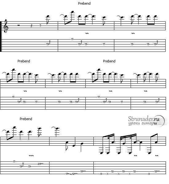 ACDC Hells-Bells соло на гитаре 2